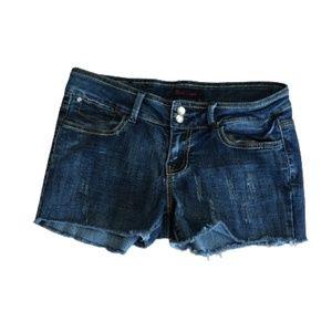 5/$25 Black Crystal Denim Shorts Size 9